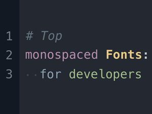 Top Monospace Fonts For Developers